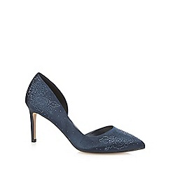 No. 1 Jenny Packham - Blue diamante 'Penny' high stiletto heel court shoes