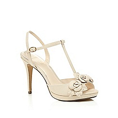 No. 1 Jenny Packham - Cream leather 'Pippin' high stiletto heel T-bar sandals