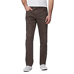 St George by Duffer - Brown straight fit trousers