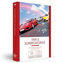 Activity Superstore - Triple supercar drive gift experience