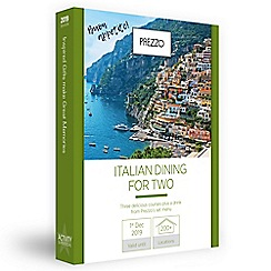 Activity Superstore - Italian dining gift experience for 2