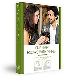 Activity Superstore - One night escape with dinner gift experience for 2