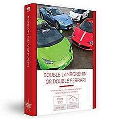 Activity Superstore - Double Lambo or Ferrari gift experience