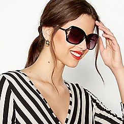 Beach Collection - Black oversized sunglasses