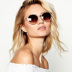 Beach Collection - Gold glitter cat eye sunglasses