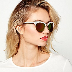 Red Herring - White and gold cat eye sunglasses