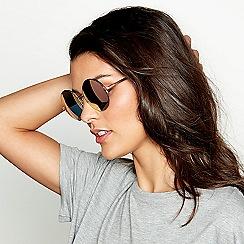 Red Herring - Pink round sunglasses