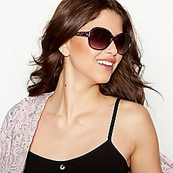 Mantaray - Purple tortoiseshell square sunglasses
