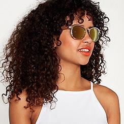 Red Herring - White and gold cat-eye sunglasses