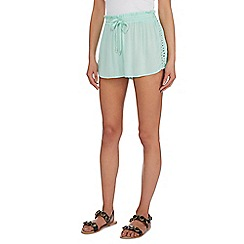 Beach Collection - Green lace flippy shorts