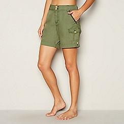 Mantaray - Khaki poplin shorts