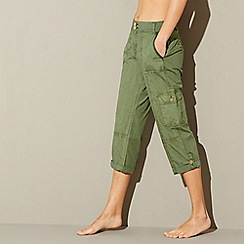 Mantaray - Khaki poplin cropped trousers