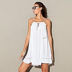 Beach Collection - White lace mini beach dress