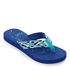 Mantaray - Navy etched flip flops