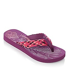 Mantaray - Purple etched flip flops