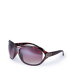 Bloc - Brown 'Miami' round oversized sunglasses DW F30