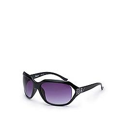 Bloc - Black 'Miami' round oversized sunglasses DW F32