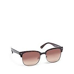 Bloc - Brown plastic 'Zodiac FF19' semi-rimless sunglasses
