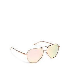 Pilgrim - Rose gold metal 'Nani' pilot sunglasses