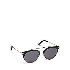 Pilgrim - Gold plastic 'Lotus' round sunglasses
