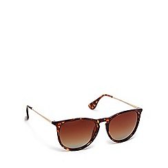 Pilgrim - Brown plastic 'Bree' round sunglasses