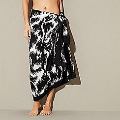 J by Jasper Conran - Black okapi print sarong