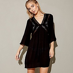 MW by Matthew Williamson - Black mesh v-neck kaftan