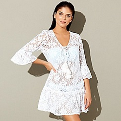 Floozie by Frost French - White lace cotton kaftan