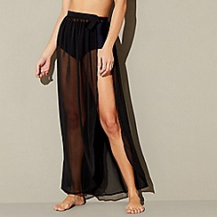 Red Herring - Black sheer wrap skirt