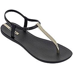 Ipanema - Black 'Charm' T-bar sandals