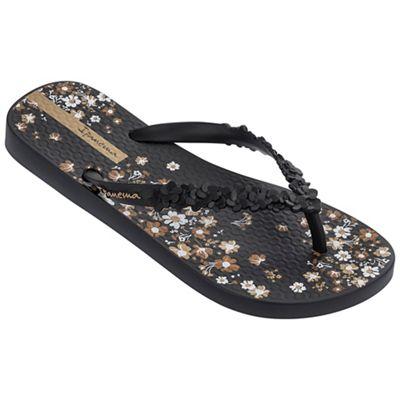 Ipanema - Black 'Fashion' floral sandals