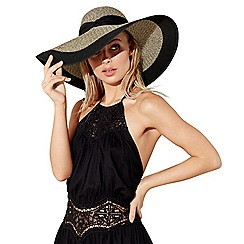 Beach Collection - Multicoloured contrast floppy hat
