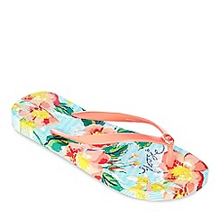 Floozie by Frost French - Multi-coloured pinstripe rose flip flops