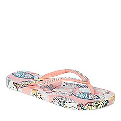 Floozie by Frost French - Coral 'Butterfly Blossom' flip flops