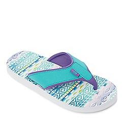 Mantaray - Multi-coloured Lankini Aztec flip flops