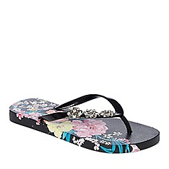 Floozie by Frost French - Multi-coloured 'Trellis' flip flops