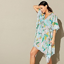 Beach Collection - Multi-coloured linea palm print kaftan
