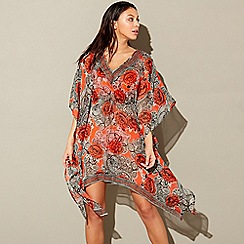 Beach Collection - Red 'Sarasa' kaftan