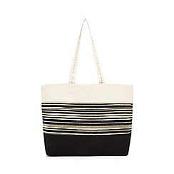 Beach Collection - Multicoloured striped shopper bag