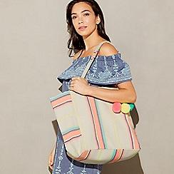 Beach Collection - Multi-coloured stripe print 'Lanikai' shopper bag