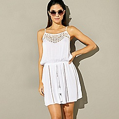 Red Herring - White lace detail mini dress