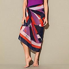 J by Jasper Conran - Multi shard print chiffon sarong