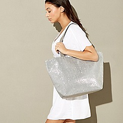 Beach Collection - Silver glitter beach bag