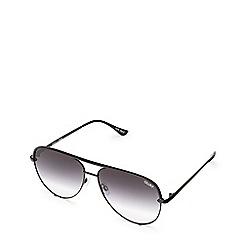 Quay Australia - Black 'High Key' mini aviator sunglasses