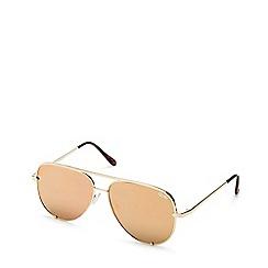 Quay Australia - Gold 'High Key' mini aviator sunglasses
