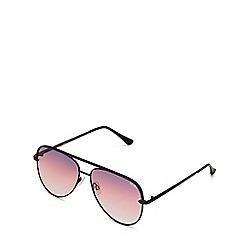 Quay Australia - Black 'Sahara' aviator sunglasses