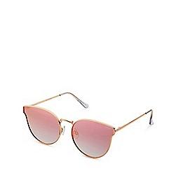 Quay Australia - Rose gold 'All My Love' cat eye sunglasses