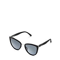 Quay Australia - Black 'My Girl' oversized cat eye sunglasses