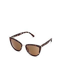 Quay Australia - Brown 'My Girl 'oversized cat eye sunglasses