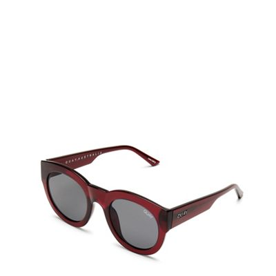 01eea6506a Quay Australia - Red  If Only  round sunglasses